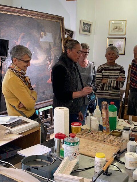 Initiation restauration de tableaux - art de l'aurore